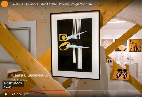 Výstava našich nožníc v Design Múzeu v Helsinkách VIDEO