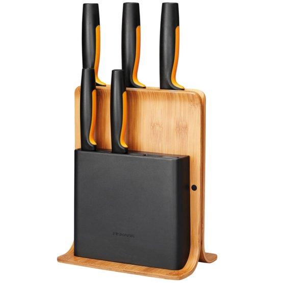 Bambusový blok s piatimi nožmi Functional Form